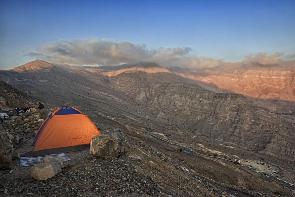 Camping in Jebel Jais Mountains