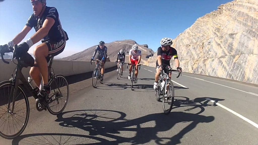 Cycling in Jebel Jais Mountains