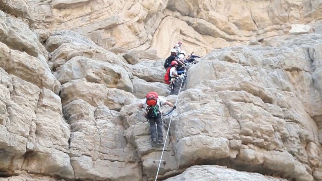 Trekking and Climing in Jebel Jais Mountains