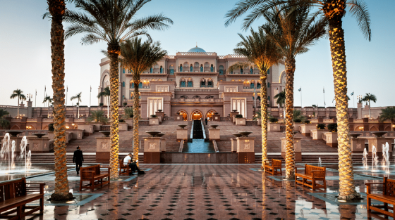 Emirates Palace Hotel front view